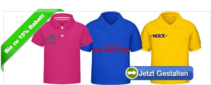 huge discount 524b6 7a397 Kinder Poloshirts bedrucken - Text und Bild auf Kinder Polos ...