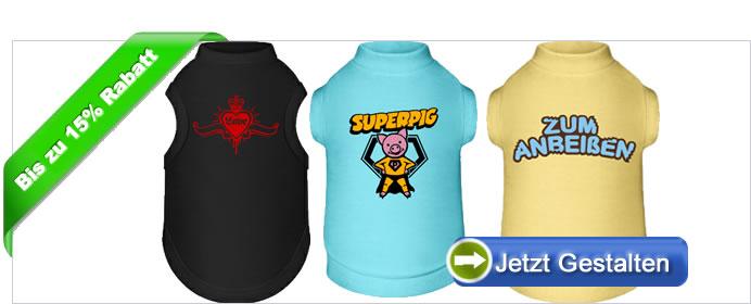finest selection 54608 e4bb7 Hunde T-Shirt bedrucken und gestalten mit eigenem Text oder ...