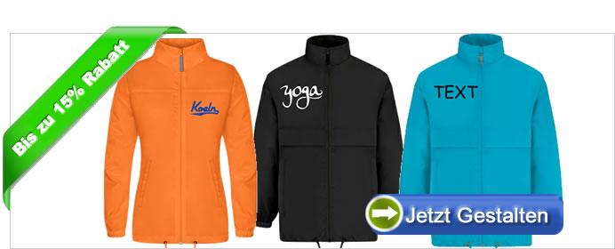 Jacken bedrucken ab 1 Stück Günstiger Jacken Druck online
